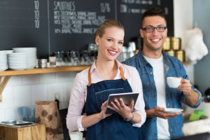 Smiling business owner pair, Cloud Accounting in Nashville, Tennessee and surrounding